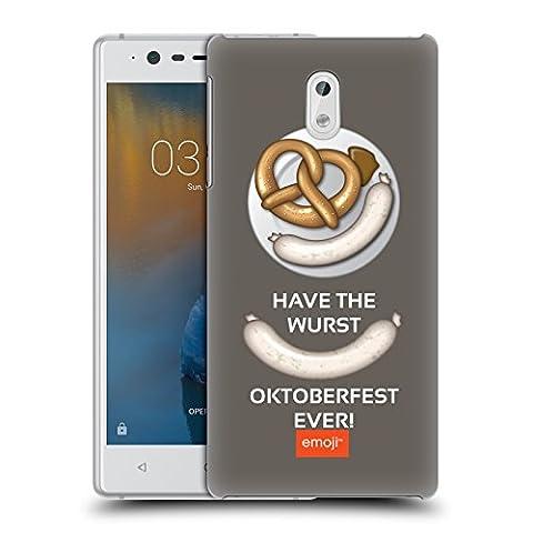 Offizielle Emoji Wurst Oktoberfest Ruckseite Hülle für Nokia 3
