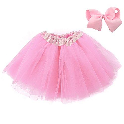 Mangotree Mädchen Tütü Minirock Organza Pettiskirt 3 Layers Petticoat Tanzkleid Unterrock Perfekt für Fasching (Tutu Schwarze Organza)