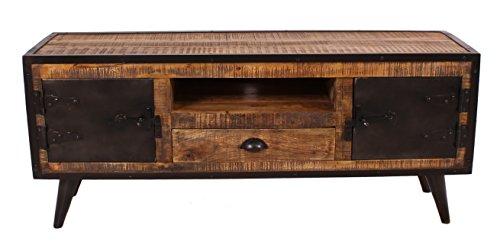 SIT-Möbel 7815-04 (IRON) Lowboard, Holz, natur / schwarz, 40 x 140 x 55 cm