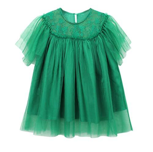 MEIbax Kleinkind Niedlich Baby Kleidungs Spitze Stickerei Tulle Partei Prinzessin Kleid Sommerkleid Blumenmädchenkleid