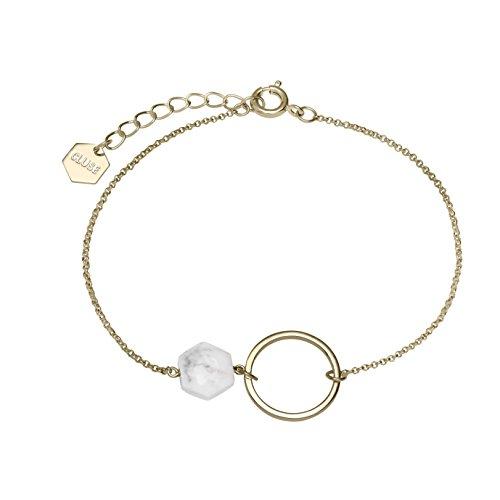 Cluse Damen-Kettenarmband Messing Türkis CLJ11008