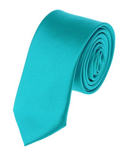 Efashionsquare Herren Solide Farbe 5cm Schmale Krawatte-Türkis