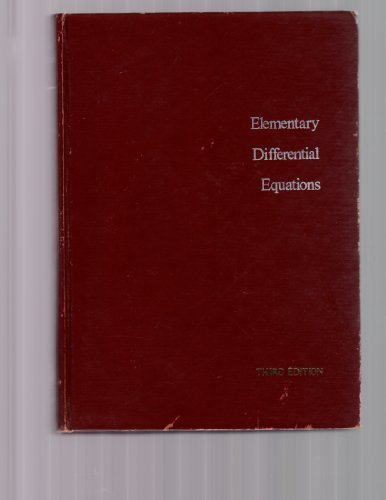 Elementary Differential Equations by William E. Boyce (1977-07-06)