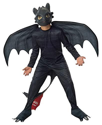 Rubie's Drachenzähmen leicht gemacht Ohnezahn Kinderkostüm Lizenzware schwarz 116 (5-6 - Zahn Märchen Kostüm Für Erwachsene