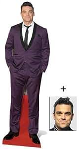 Robbie Williams Lebensgrosse Pappfiguren / Stehplatzinhaber / Aufsteller - Purple Suit Style - Enthält 8X10 (25X20Cm) starfoto