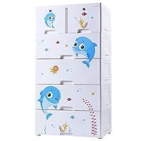 LIAN Plastic Drawer Storage Cabinet Children