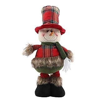 Garosa Muñecas de Navidad Retráctiles Adornos Lindos Papá Noel Reno Muñeco de Nieve de Juguete de Felpa Casa Festival Decoración Niños Regalos