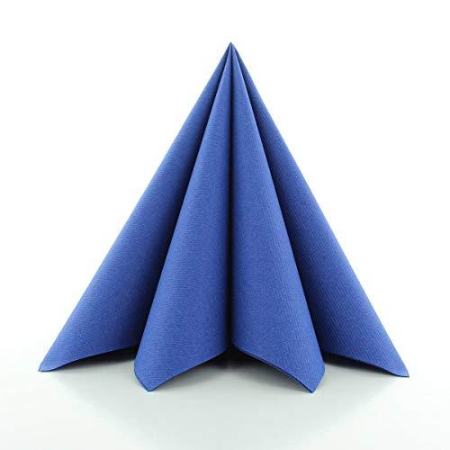 -Servietten 40x40 cm | hochwertige Einweg-Servietten | extrem saugstark und stoffähnlich | ideal für Hochzeit & Partys | 50 Stück | Royal-Blau ()