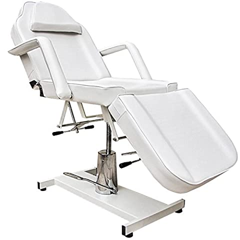 eyepower professional stationary Massage Table with face hole 185cm | 3 Section beauty therapy tattoo spa Reclining Couch Bed | metal frame thick upholstered | supported weight 250kg | rotates 360° | removable armrests | NEW |