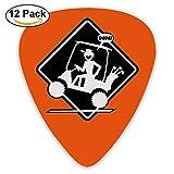 Custom Guitar Picks, Jewelry Gift For Guitarist Electric Guitar -Golf Cart Wheelie Placard,12 Pack