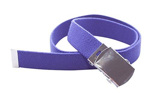 Clip.Ho - Kindergürtel mit Metallschnalle verstellbar von Größe 74 - 152 in vielen Farben (Lila)