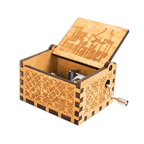 Jerfer carillon di mano pura - scatola di musica classica carillon di legno a mano artigianato in legno creativi i migliori regali
