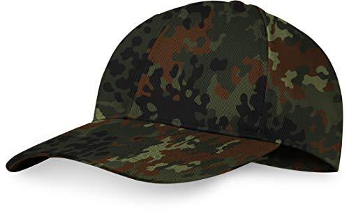US Baseball Cap mit verstärktem Stirnbereich, größenverstellbar, Farbe :Flecktarn