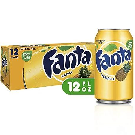 Fanta Refresco con Gas Sabor Pi a Paquete de 12 x 355 ml Total 4260 ml