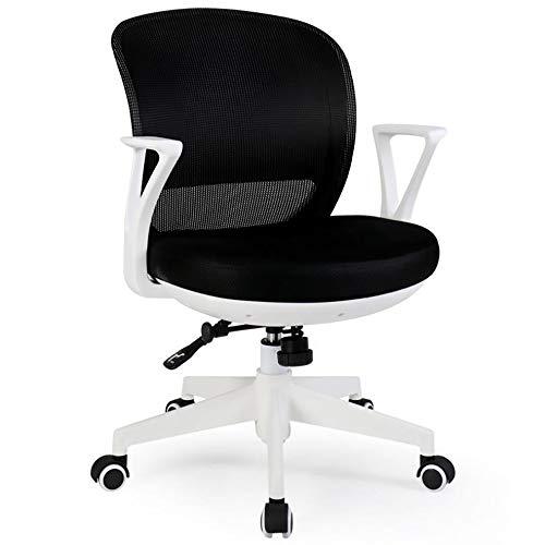 YGB Bürostuhl Ergonomisch Schreibtischstuhl, Mit Arm Medium Zurück Mesh Computer Heimarbeit Gaming Neigungsmechanismus 360 Grad Swivel Max Gewicht Kapazität 150 kg,