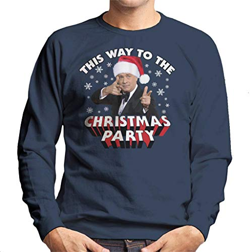 (Coto7 Tom Hanks This Way to The Christmas Party Men's Sweatshirt)