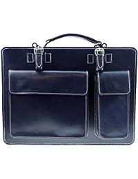 bag2basics Aktentasche Lehrertasche Crown in diversen Farben   Echtes Leder Made in Italy   Umhängetasche (B40xH30xT10)