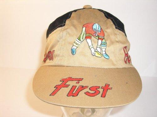 hat-cap-baseball-cap-size-56-ochre-first-super-genuine-vintage-bowl