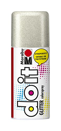 Marabu 21075006582 - Do it Colorspray Glitter, 150 ml, glitter-silber (Glitter-farbspray)