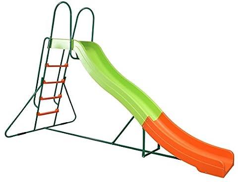 SportPlus SP-GAM-221 - Wellenrutsche Rutschlänge ca. 300cm, Spielzeugsicherheitstest nach EN71, Modell (Smoby Kletterturm)