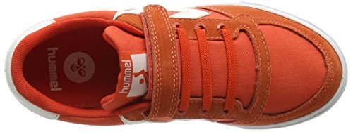 Hummel SLIMMER STADIL CANVAS LO, Sneakers basses mixte enfant Rouge - Rot (Cherry Tomato 5086)