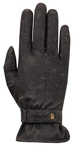 Roeckl Sports Winter Handschuh Wago Unisex Reithandschuh, Schwarz Stonewashed, 10