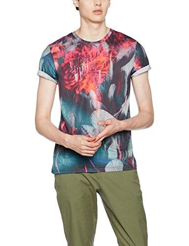 find-floral-glitch-t-shirt-homme-noir-multicoloured-xx-large