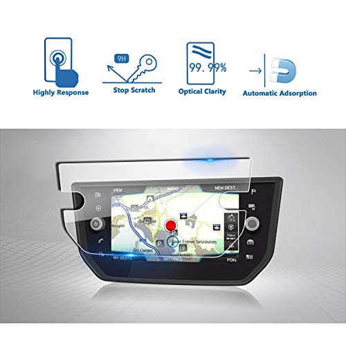 LFOTPP Seat Ibiza 8 Zoll Navigation Schutzfolie - 9H Kratzfest Anti-Fingerprint Panzerglas Displayschutzfolie GPS Navi Folie