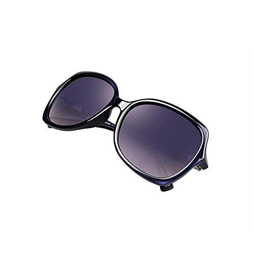 Sonnenbrillen Polaroid Sonnenbrillen Weibliche rundes Gesicht Big Face Fashion Retro Diamant-Sonnenbrille Mode Schütze Deine Augen (Farbe : A)