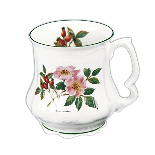 David Michael - Großmutter Große Kaffee-Tee-Becher mit Wild Rose und rote wilde Blume Rote Rose Becher