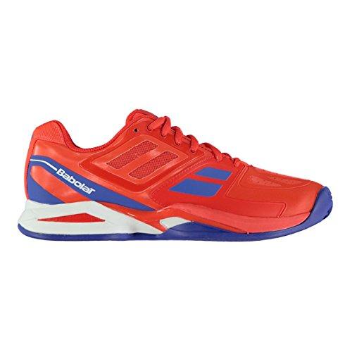 Babolat Herren Propulse Clay Court Tennis Schuhe Sportschuhe Turnschuhe Rot/Blau
