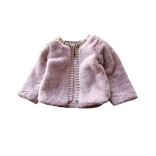 Abrigo de niñas   Niños pequeños Bebés Niñas Chaqueta de Invierno Abrigo cálido Abrigo Grueso Piel sintética a Prueba de… 4