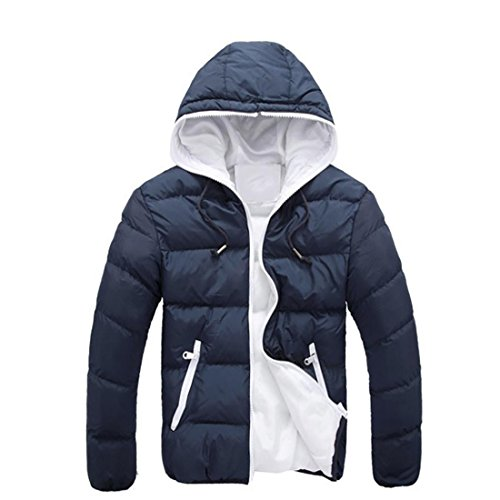 Herren Jacke Btruely Herbst Winter Männer Slim Mantel Langarm Dicker Mantel  Warm Hooded Outwear (M 5ed1de440f