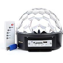 ccbetter Bluetooth Luces discoteca DJ, Función SD y USB, control remoto
