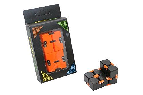 Kidz Corner- Infinity Cube, Colore Nero/Arancione, 437613