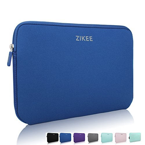 Zikee 15-15.6 Inch Water Resistant Light Laptop Sleeve Protective Case Cover Carrying Bag, Thickness: 0.55cm (Black, Blue, Gray, Green, Purple, Pink, Chevron Green Available)