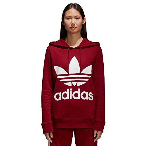 adidas Damen Trefoil Kapuzenpullover, Collegiate Burgundy, 38 (Collegiate Kapuzen-pullover)