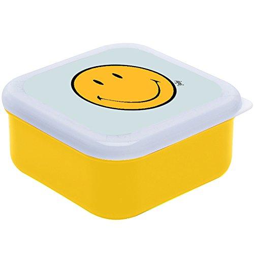 ZAKdesigns 6662-0402 Smiley – Brotdose aus Kunststoff, 45x35x25cm, Gelb/ Weiß