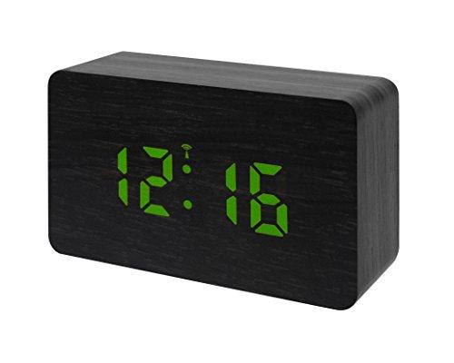Bresser Funkwecker MyTime W mit LED Display schwarz/grün
