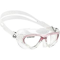 Cressi Cobra - Gafas de natación para mujer, color transparente/rosa