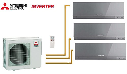 MITSUBISHI TRI-SPLIT PARED INVERTER DESIGN MXZ-3D54VA + 2 X MSZ-EF22VE2S + 1 X MSZ-EF25VE2S