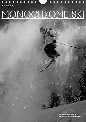 Monochrome Ski (Wandkalender 2020 DIN A4 hoch): Verschiedene Skimotive von meinen Reisen. Different b/w images of my skiing ventures (Monatskalender, 14 Seiten ) (CALVENDO Sport) -