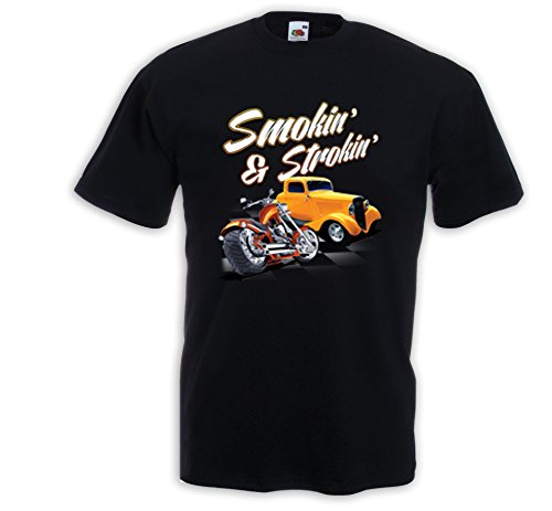 Preisvergleich Produktbild Hot Rod T-Shirt Smokin and Strokin Vintage Rockabilly US Biker V8 Gr. L