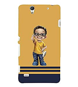 Cartoon, Black, Cartoon and Animation, Cute baby, Printed Designer Back Case Cover for Sony Xperia C4 Dual :: Sony Xperia C4 Dual E5333 E5343 E5363