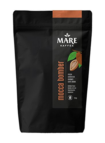 Mare Kaffee - Mocca Bomber - 85% Arabica, 15% Robusta - Vollautomat, Espressokocher, Siebträger (250 Gramm)