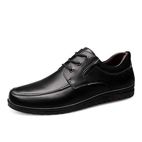 Lackleder Die stilvolle bequeme Business Oxford-Freizeitmode der Männer passt superfein zu den britischen New Pricks-Freizeitschuhen Abendgarderobe Dress Schuhe ( Color : Schwarz , Größe : 45 EU )