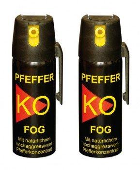 2 Stück Pfefferspray Ballistol KO FOG / Pepper KO Spray 50ml - EXTRA STARK