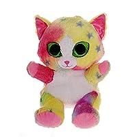 Blickfanger & Glitter Bauer14213 Blickfanger and Glitter Crazy Cat Eye Plush Toy, 20 cm