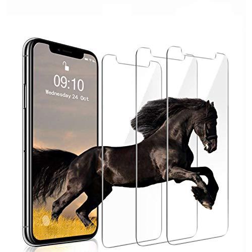 [3 Pack] Panzerglasfolie für iPhone XS/iPhone X 9H Tempered Glass Displayschutzfolie 0.33mm Ultra-klar Panzerglas Handy Schutzfolie Blasenfrei Folie