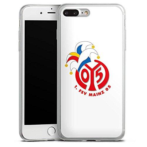 Apple iPhone 8 Slim Case Silikon Hülle Schutzhülle 1. FSV Mainz 05 e.V. Fußball Fanartikel Silikon Slim Case transparent